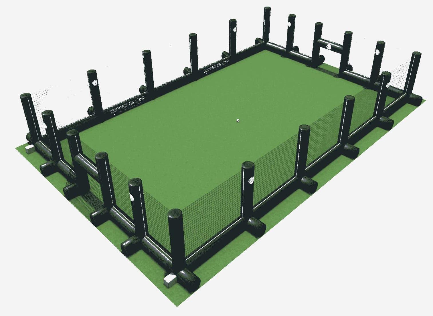 Terrain de foot gonflable 3D